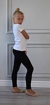 Лосины для танцев и гимнастики черные х/б