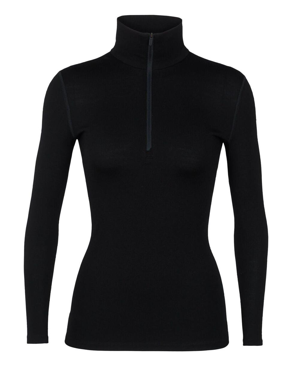 Термофутболка женская Icebreaker 260 Tech Long Sleeve Half Zip Black M (104 390 001 M)