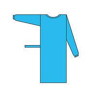 Халат медицинский одноразовый нестерильный, на завязках (размер XL)