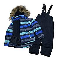Детский зимний термо костюм для мальчика 104 рост синий