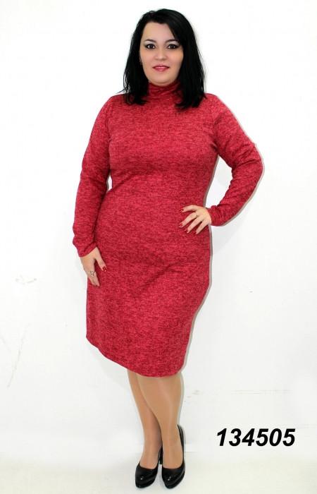 Тепле плаття,ангора-меланж,червоне 48,50,52,54,56