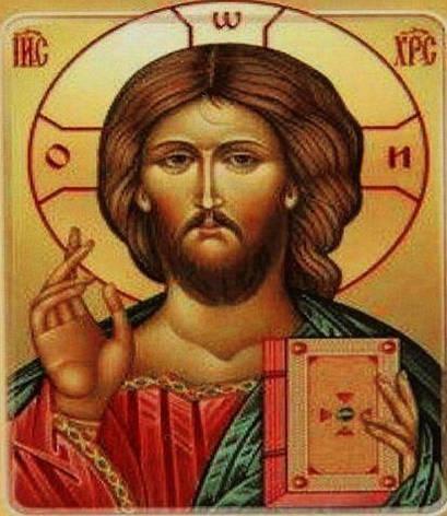 """GB70944 Алмазная мозаика по номерам 30*40 """"Икона Иисуса"""" карт уп. (холст на раме), фото 2"""