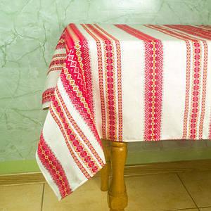 Скатерть из льна 146х145 см, Красный, + 6 салфеток