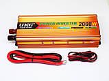 Перетворювач авто інвертор UKC 12V-220V 2000W, фото 2