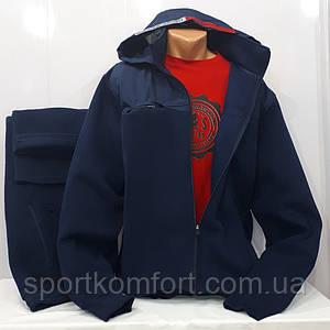 Утеплений прогулянковий костюм Туреччина Soccer темно-синій розміри 6хл 8хл