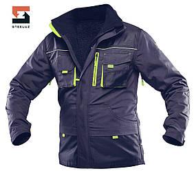 Куртка рабочая со съёмной утепленной подкладкой SteelUZ 4S с салатовой отделкой, спецодежда XL