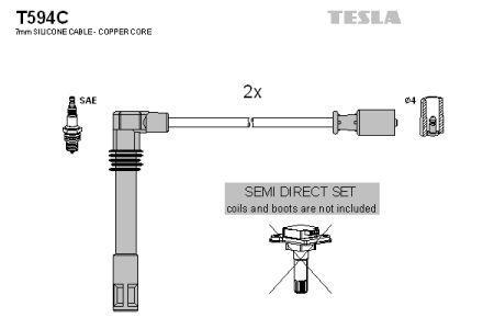 Провода зажигания AUDI A4, AUDI A6, VOLKSWAGEN PASSAT,  TESLA T594C