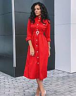 Женское платье миди на пуговицах, фото 1