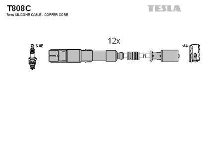 Провода зажигания CHRYSLER CROSSFIRE, MERCEDES-BENZ C-CLASS, MERCEDES-BENZ CLK, MERCEDES-BENZ E-CLASS TESLA T808C