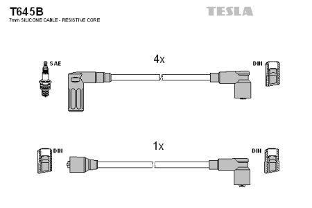Провода зажигания FIAT TEMPRA, FIAT TIPO, FIAT UNO, LANCIA DELTA TESLA T645B