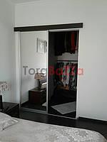 Міжкімнатні розсувні двері купе (гардеробні перегородки) ДСП, дзеркало, сатин