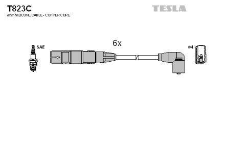 Провода зажигания FORD GALAXY, VOLKSWAGEN GOLF, VOLKSWAGEN SHARAN, VOLKSWAGEN PASSAT TESLA T823C