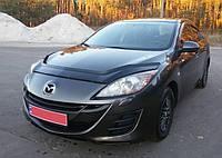 Дефлектор капота (мухобойка) Mazda 3 2009-2013 /седан,хэтчбек, фото 1