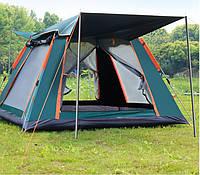 Палатка-автомат 4-местная, размер 210х210х140см (Размер внешний), автоматическая палатка