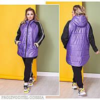 Женская фиолетовая куртка в спортивном стиле 50-52,54-56,58-60, фото 1