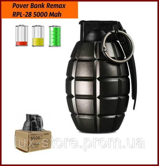 Портативная батарея Power Bank Remax RPL-28 Grenade 5000 mAh, Black