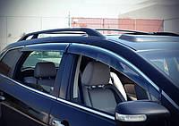 Дефлекторы окон (ветровики) Kia Sportage 2011-2015 (с хром молдингом)