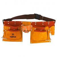 Пояс для инструмента Topex пояс монтажника (11 карманов)