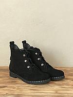 Женские Ботинки замшевые демисезонные на низком ходу