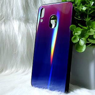 """Силиконовый чехол Samsung """"Градиент"""" M20 2019 Фиолетовый (violet)"""