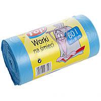 Пакеты для мусора MIX WORKI с ушами 60*80 60л 100шт. голубые
