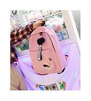 Міський рюкзак для дівчини Polaqi з помпоном рожевий
