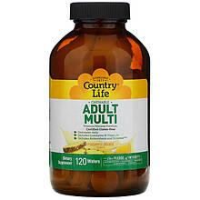 """Жувальні полівітаміни для дорослих Country Life """"Adult Multi"""" зі смаком ананаса і апельсина (120 пастилок)"""