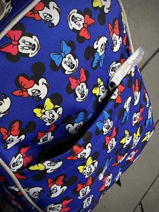 Рюкзак Mickey Mouse Женский   Детский Городской микки маус голубой mini, фото 2