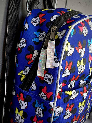 Рюкзак Mickey Mouse Женский   Детский Городской микки маус голубой mini, фото 3
