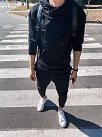 Мужской спортивный костюм черный, фото 1