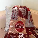 Красный новогодний плед Подарочки, 90*130, фото 2