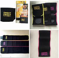 Пояс для похудения с компрессией Sweat Waist Trimmer Belt размер L, неопрен, пояс для похудения, пояс Sweat