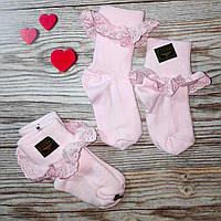 Нарядные носочки гольфы для новорожденной девочки