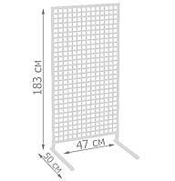 Торговая сетка стойка на ножках 183/47см профиль 20х20 мм (от производителя оптом и в розницу), фото 1