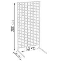 Торговая сетка стойка на ножках 200/80см профиль 20х20 мм (от производителя оптом и в розницу), фото 1