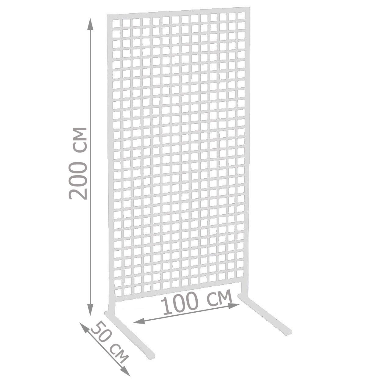 Торговая сетка стойка на ножках 200/100см профиль 20х20 мм (от производителя оптом и в розницу)