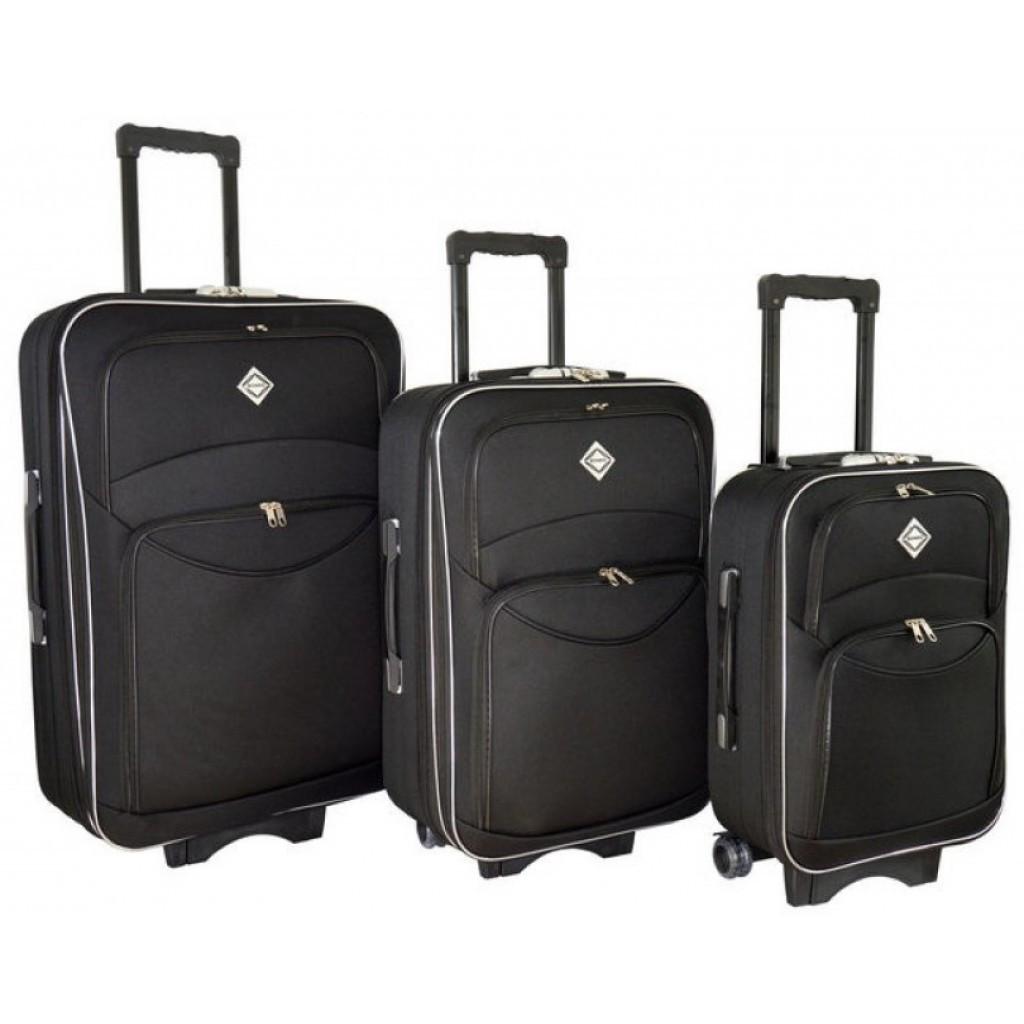 Чемодан Bonro Style набор 3 штуки черный