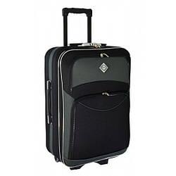 Дорожня валіза Bonro Style (середня) чорно-сіра