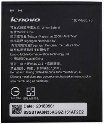 Аккумуляторная батарея Lenovo BL242 2300 mAh для A2020 Vibe C/A3690/A3860/A3900/A6000/A6000 Plus/A6010/K3/K30  АА класс, фото 2