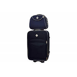 Комплект валіза + кейс Bonro Style (маленька) синя