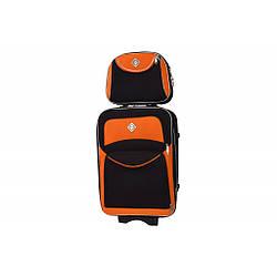 Комплект Валіза + кейс Bonro Style (маленька) чорно-оранжева