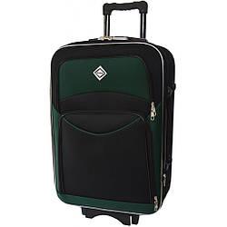 Текстильная чемодан Bonro Style (средняя) черно-зеленая