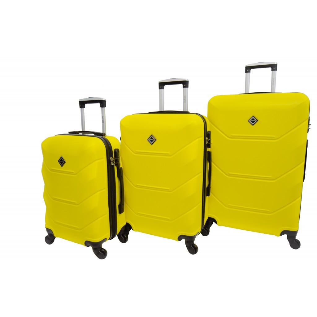Чемодан Bonro 2019 набор 3 штуки желтый