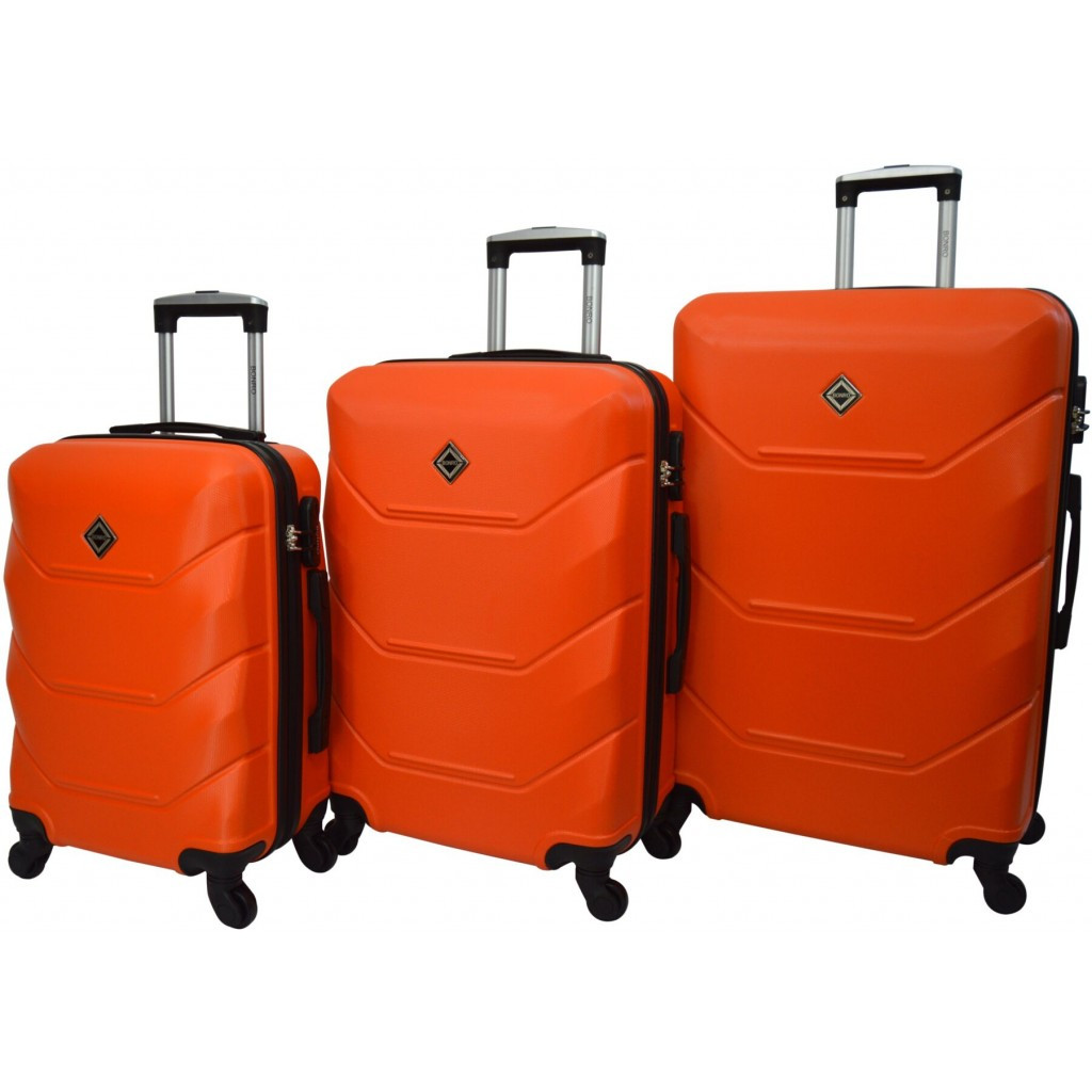 Чемодан Bonro 2019 набор 3 штуки оранжевый