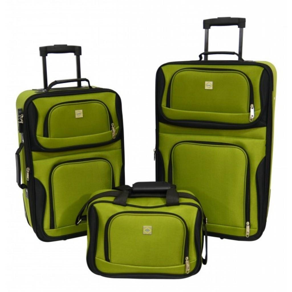 Набір валіз Bonro Best 2 шт і сумка зелений