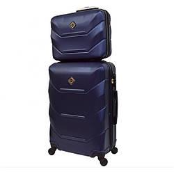 Комплект чемодан + кейс Bonro 2019 (небольшой) т.синий
