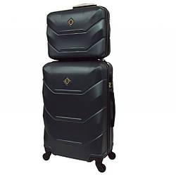 Комплект валіза + кейс Bonro 2019 (невеликий) смарагдовий