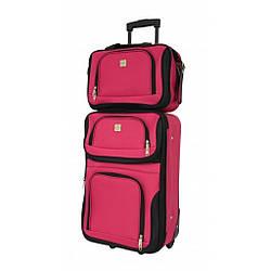 Комплект чемодан + сумка Bonro Best небольшой вишневий