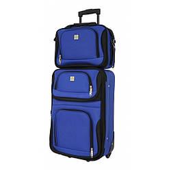 Комплект валіза + сумка Bonro Best невеликий синій