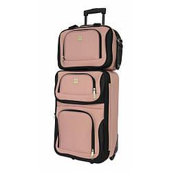 Комплект чемодан + сумка Bonro Best средняя розовая